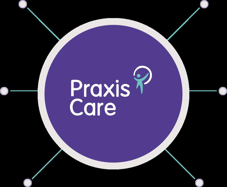 Praxis Logo in circle
